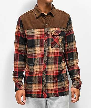 Dravus Cloverdale camisa de franela marrón
