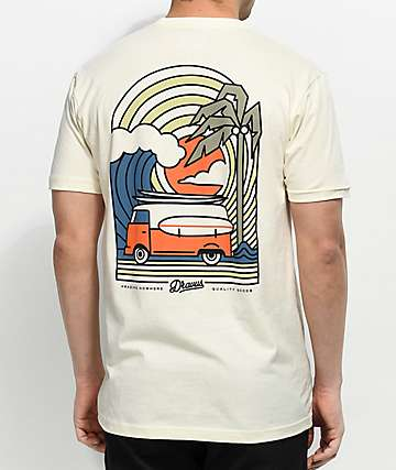 Dravus Coastal Vibes Cream T-Shirt
