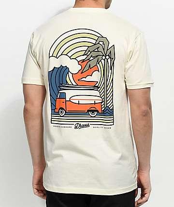 Dravus Coastal Vibes Cream T-Shirt