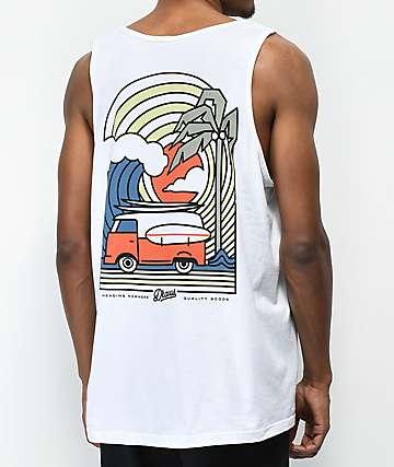 Dravus Coastal Vibes camiseta sin mangas blanca