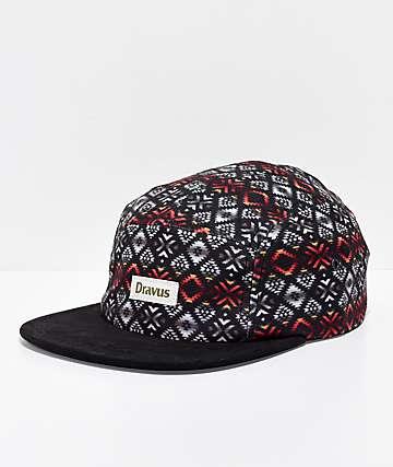 Dravus Dark Alpine gorra negra de 5 paneles