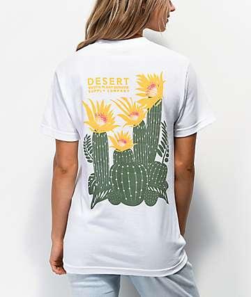 Dravus Desert Cactus White T-Shirt