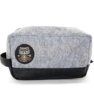 Dravus Dopp Grey Faux Wool Travel Bag