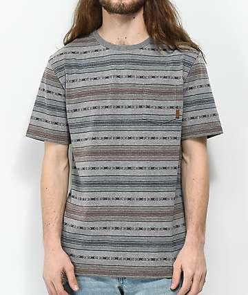 Dravus Forest Jacquard Stripe Knit T-Shirt