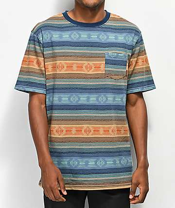 Dravus Forest Jacquard Striped T-Shirt