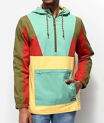 Dravus Gnark Multi-Colorblock Anorak Jacket