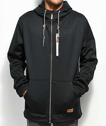 Dravus Grays Tech Fleece Black Zip Up Hoodie