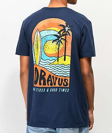 Dravus High Tides Navy T-Shirt