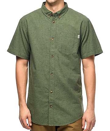 Dravus Jasper Olive Short Sleeve Button Up Shirt