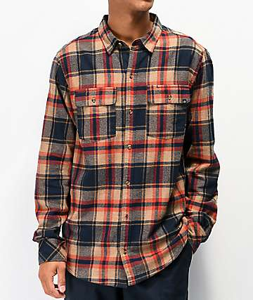 Dravus Jubal Navy & Tobacco Flannel Shirt