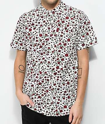 Dravus Landon Floral White Short Sleeve Shirt