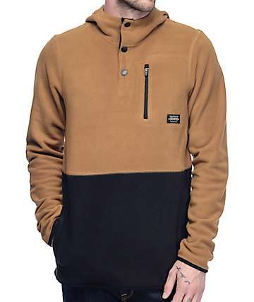 Dravus Logan Black & Khaki Pullover Tech Fleece