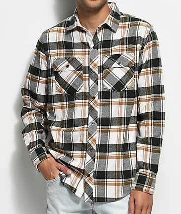 Dravus Lupe Oat, Green & Gold Flannel Shirt