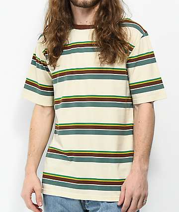Dravus Mojave Striped Cream T-Shirt