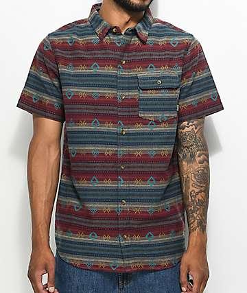 Dravus Newb Tribal Short Sleeve Button Up Shirt