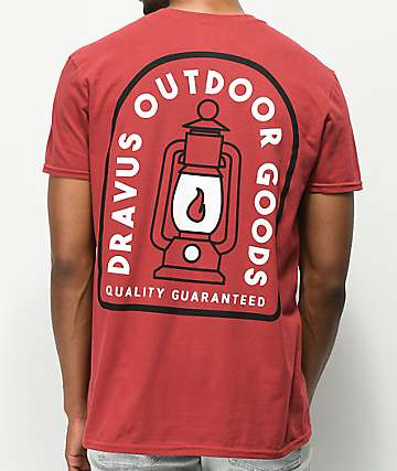 Dravus Outdoor Goods Dark Red T-Shirt