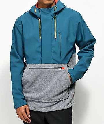 Dravus Riley Color Blocked Tech Fleece Anorak Jacket