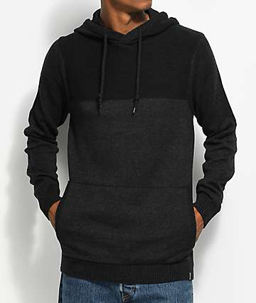 Dravus Roald Heather Black Knit Hoodie