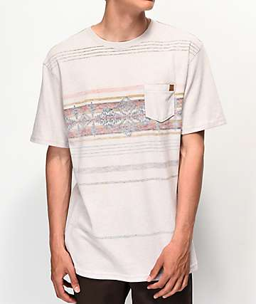 Dravus Sahara Print Light Brown Knit T-Shirt