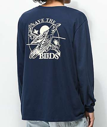 Dravus Save The Birds Navy Long Sleeve T-Shirt