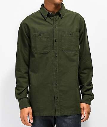 Dravus Spruce camisa de franela verde oscuro