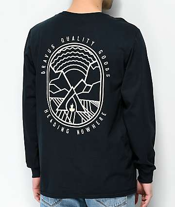 Dravus Summer Nights Black Long Sleeve T-Shirt