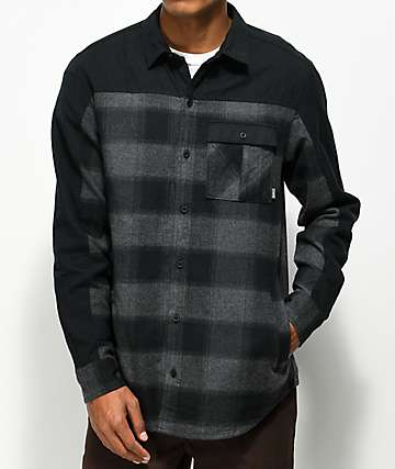 Dravus Tony Piece Charcoal & Black Flannel Shirt