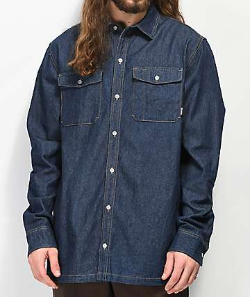 Dravus Trades Dark Denim Long Sleeve Shirt