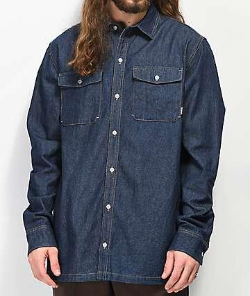 Dravus Trades camisa de mezclilla oscura