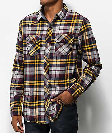 Dravus Travis Grey & Gold Flannel Shirt
