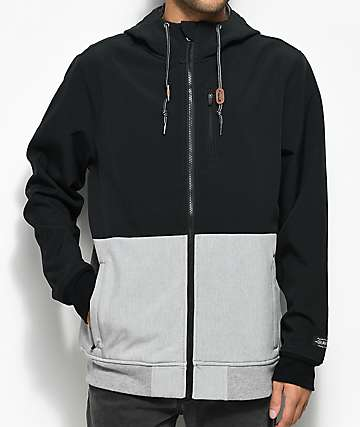 Dravus Trevor Black & Grey Tech Fleece Jacket