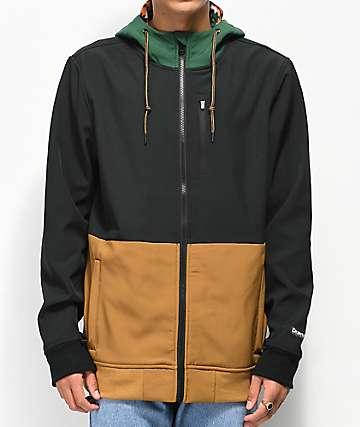 Dravus Trevor chaqueta de polar técnico negro y caqui