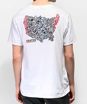 Dravus USA White T-Shirt