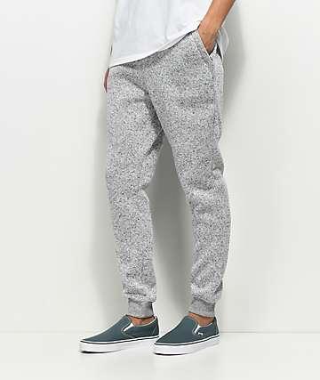 Dravus Unruly Heather Grey Knit Jogger Pants