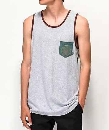 Dravus Ventura camiseta sin mangas gris y marrón