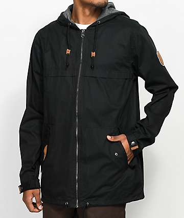 Dravus Woodland Black Full Zip Jacket