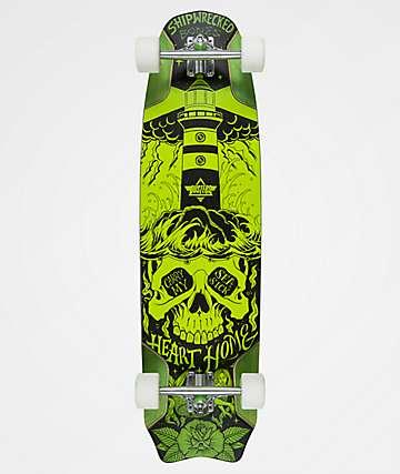 """Dusters Bones 37.9"""" Green Longboard Complete"""