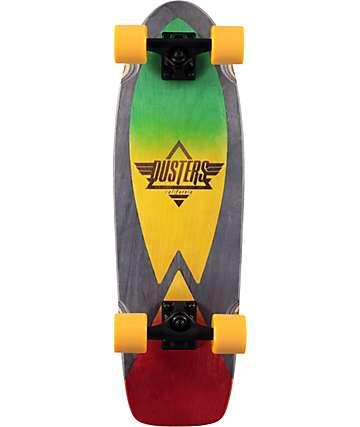 """Dusters Cazh Rasta 28.5"""" tabla de skate cruiser completo"""