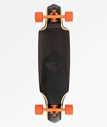 "Dusters Channel Black Prism 34"" Drop Through Longboard Complete"