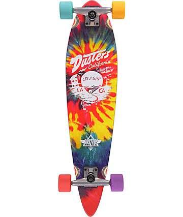 """Dusters Cruisin 31.5"""" tabla de skate cruiser completo tie dye mini pin"""