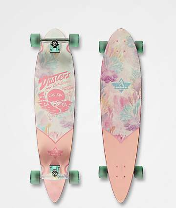"Dusters Cruisin Kelp 37"" Pink Longboard Complete"