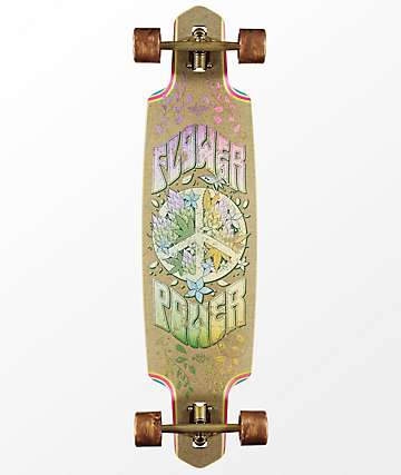 "Dusters Flower Power Hemp 38"" Drop Through longboard completo"