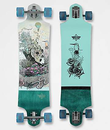 "Dusters Giant 38"" Drop Down Drop Through Longboard Complete"