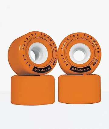 Dusters Gliders 70mm 78A Orange Skateboard Wheels