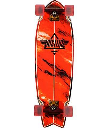 "Dusters Kosher Red 32.5""  Complete Cruiser Skateboard"