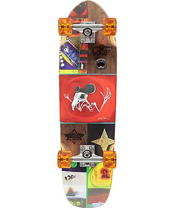 "Dusters Locos Tourje 29""  skateboard cruiser completo"