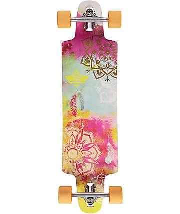 """Dusters Mandala Crop Thru 36"""" Longboard Complete"""