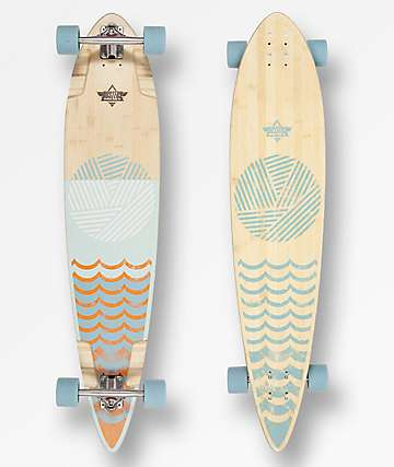 "Dusters Ripple 44"" Pintail Longboard Complete"