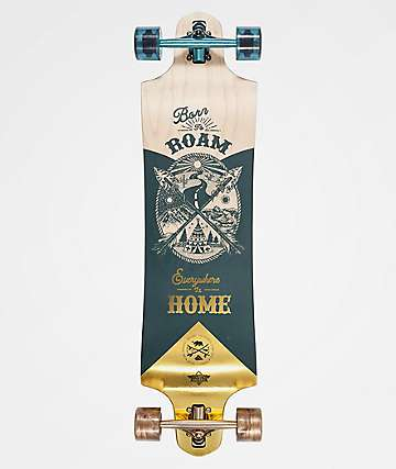 "Dusters Roam Gold 38.0"" Drop Through Longboard Complete"