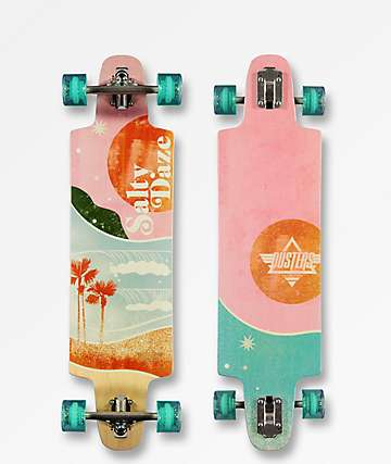 "Dusters Salty Daze 36.0"" Drop Through Longboard Complete"